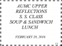 February 28, 2016 - Soup and Sandwich Lunch