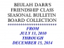 January 22, 2015 - Beulah Darr's Friendship Class Seasonal Bulletin Board Collection